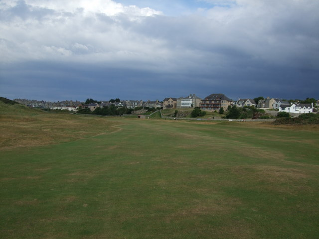 The 17th fairway Moray Golf Club - Old Course