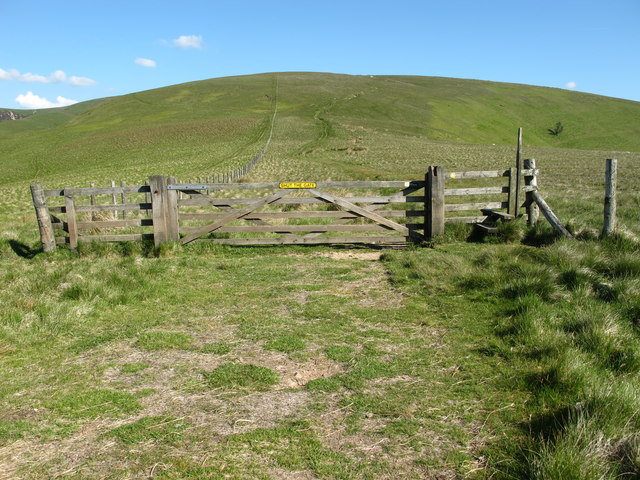 Gate and stile on the route of The Street