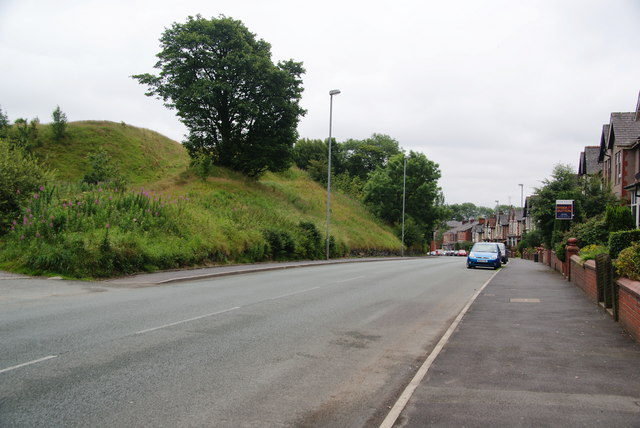 The highest point on the A671 between Oldham and Rochdale