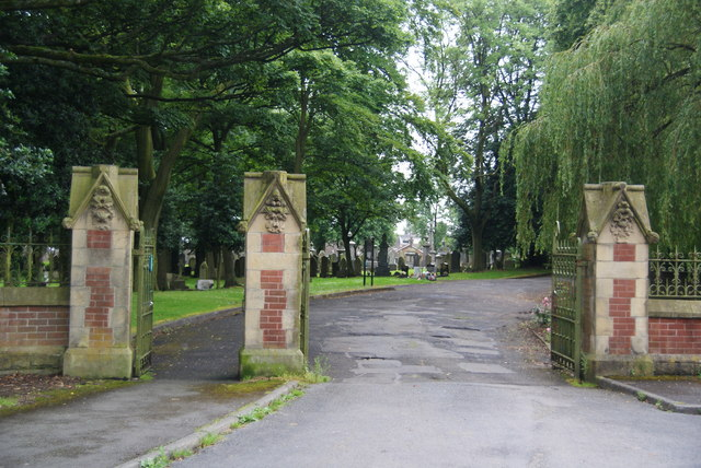 The gates of Royton Cemetery