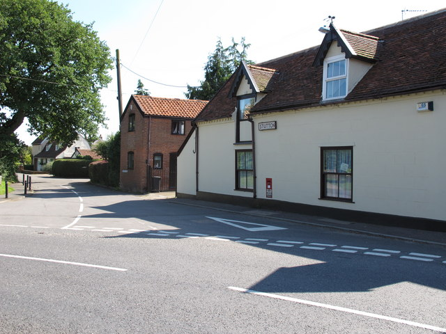 Church Road junction, Stutton