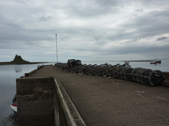 Lobster pots and jetty, The Ouse, Holy Island