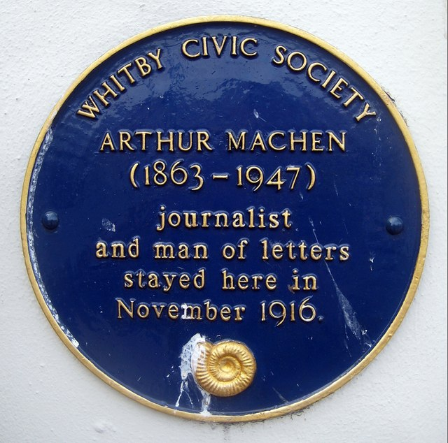 Blue plaque, Arthur Machen