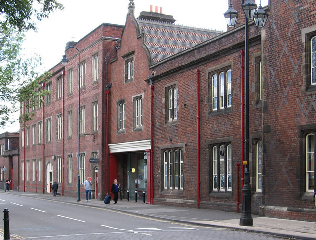 Stoke - railway buildings on Station Street