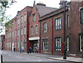 SJ8845 : Stoke - railway buildings on Station Street by Dave Bevis