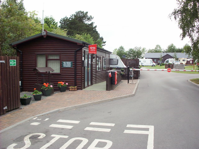 Caravan Club site The Firs Belper reception