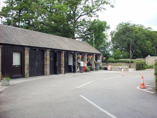 Caravan Club site Chatsworth Park reception