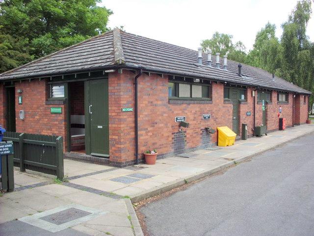 Caravan Club site Alderstead Heath facilities block