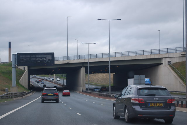 M62 Motorway Bridge over the A1(M)