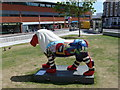 SZ0891 : Bournemouth: lion in The Triangle. by Chris Downer