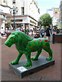SZ0891 : Bournemouth: lion in Old Christchurch Road by Chris Downer
