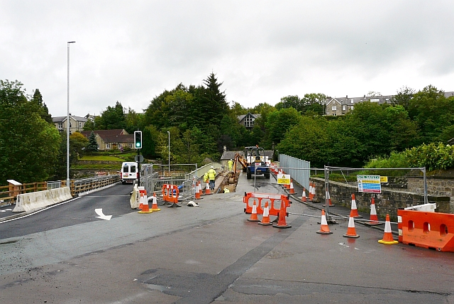 Temporary road bridge, Rothbury