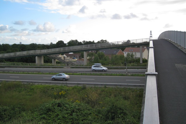 Footbridge over the M49