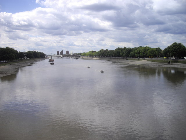 View of River Thames from Chelsea Bridge