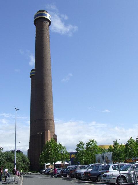 Chimneys at Ikea, near Croydon
