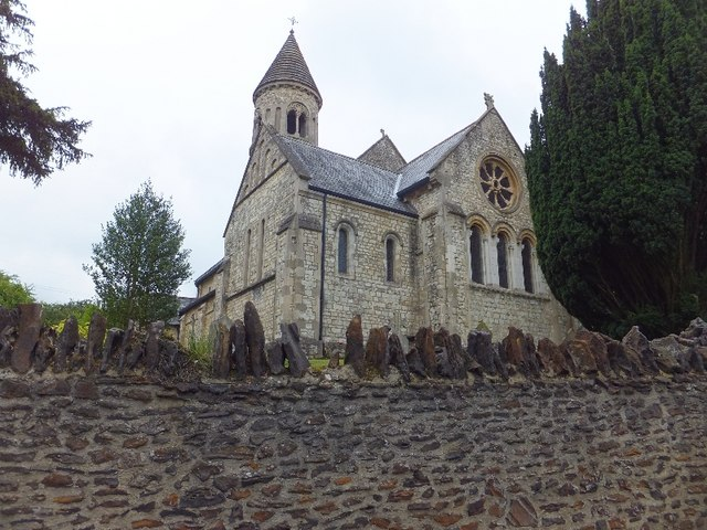 The church of St John the Evangelist, Hale