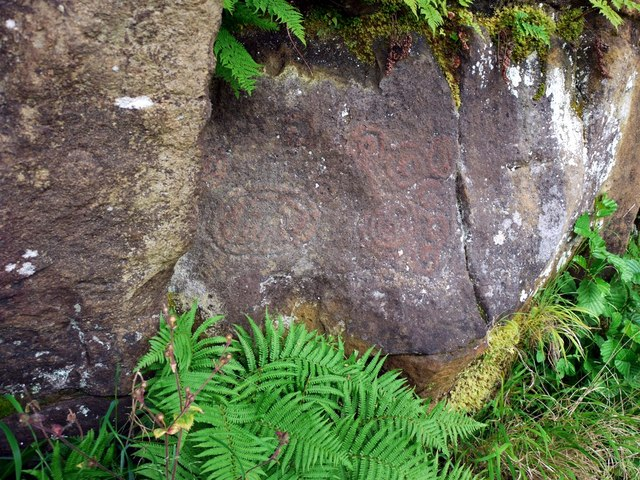 Complex rock carvings at Morwick Crag