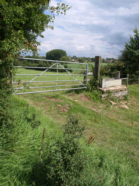 Gate and trough near Danielswell Farm