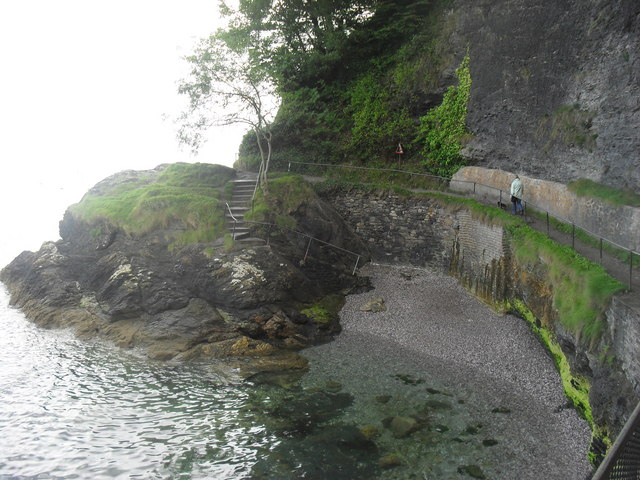 Part of the path from Oddicombe beach to Babbacombe beach