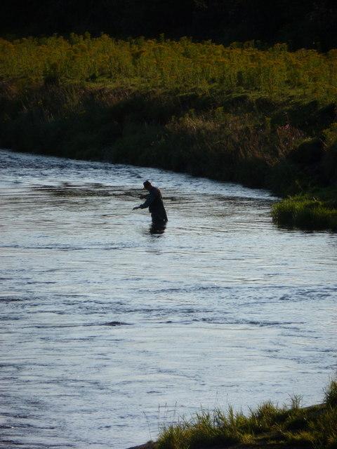 Annan: angler on the River Annan