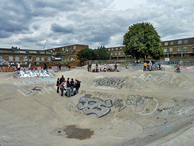 Skateboard park, Stockwell