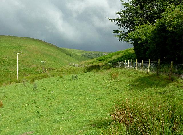 Cwm Doethie Fawr with rainbow #1, Ceredigion