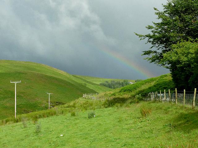 Cwm Doethie Fawr with rainbow #3, Ceredigion