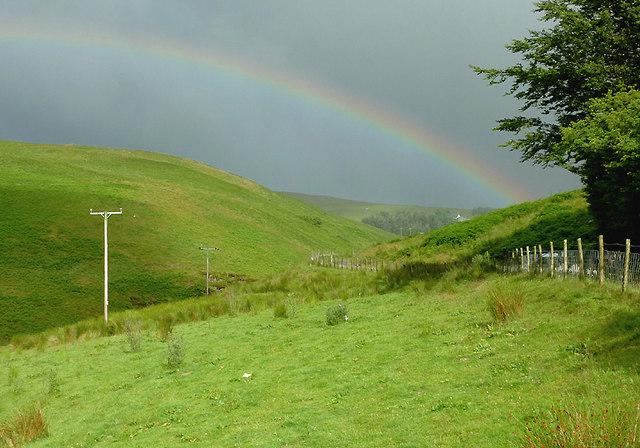 Cwm Doethie Fawr with rainbow #5, Ceredigion