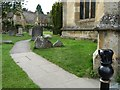 SP0228 : Path through the churchyard, Winchcombe by Christine Johnstone