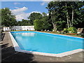 TQ4198 : Swimming pool, King's Oak, High Beach by David Hawgood