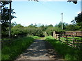 SE4057 : A footpath leading to the A168 the old A1 by Ian S