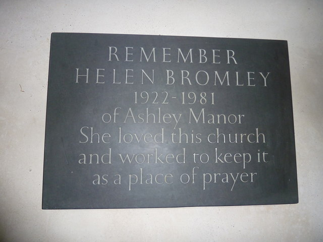 St Mary, Ashley: memorial