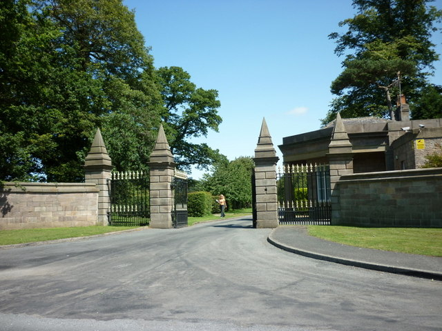 The former entrance to Nidd Hall (now a hotel)