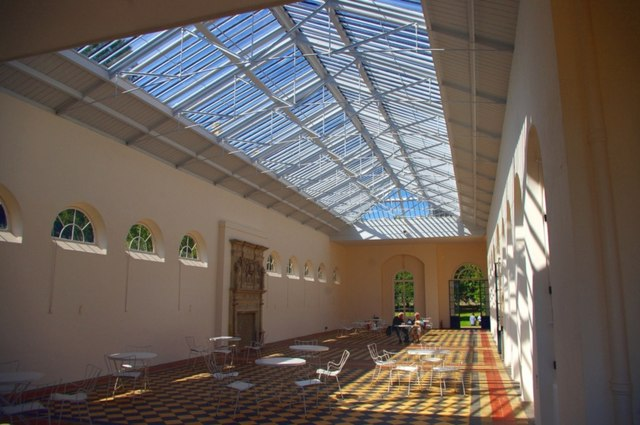 Interior of the orangery at Wrest Park