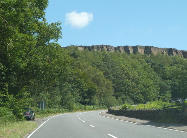 Millstone Edge from the A6187