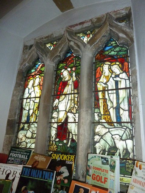 St Peter New Church, Stockbridge: stained glass window (4)