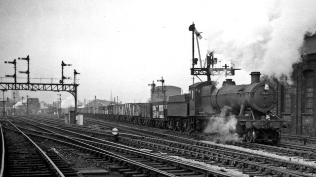 Up coal train from South Wales at Tramway Junction, Gloucester