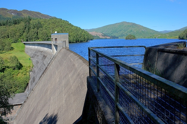 The Dam Wall, Glen Finglas Reservoir