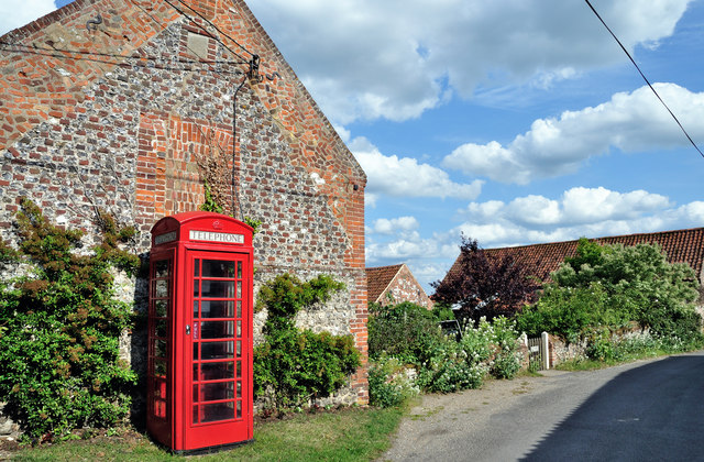 'Red' Phone Box at Burnham Norton