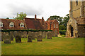 TL1264 : Churchyard, St Andrew, Great Staughton by Julian Osley