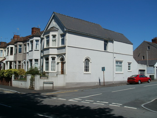 Risca Road house on the corner of Penllyn Avenue, Newport