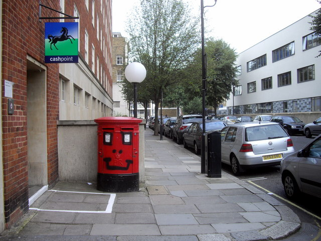 A happy Postbox in Chichester Street, Pimlico