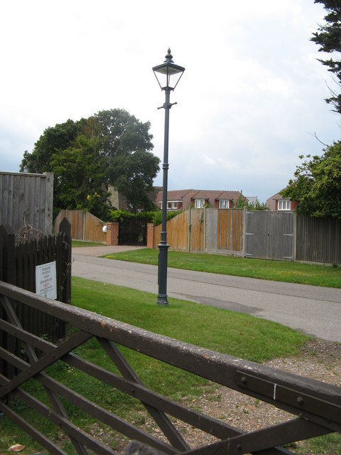 Private entrance to Gorse Avenue