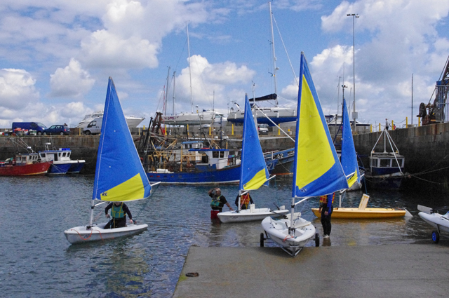 Sailing dinghies in Dun Laoghaire harbour