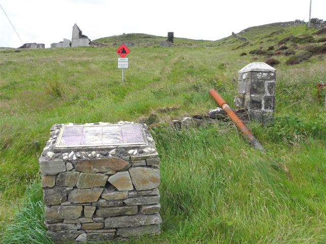 Site of the former coastguard station at Teelin Bay