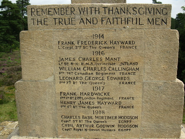 Inscription on WW1 war memorial © don cload :: Geograph ...