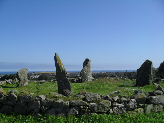 Stone Circle by Causey Mounth