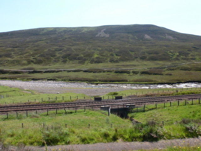 The A9: view across the River Garry from layby 74