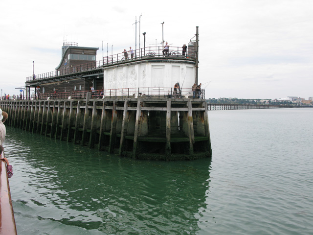Fishermen on the end of Southend pier