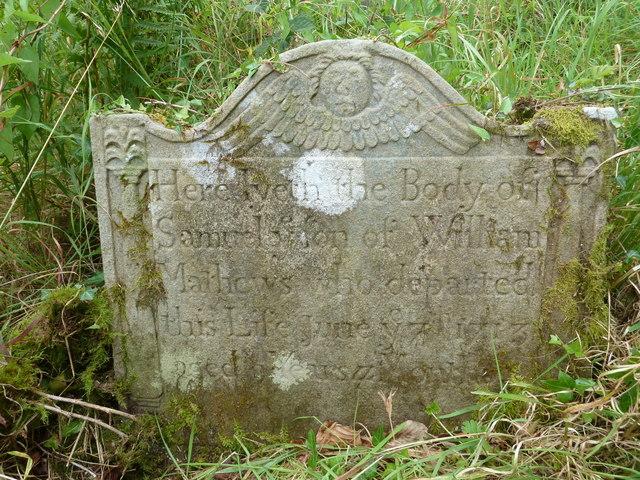 Tintern - 1713 gravestone in St Mary's churchyard